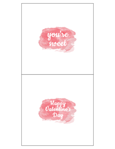 "OL685 - 5.3125"" x 5.25"" - Watercolor Wrap-Around Candy Bar Labels for Your Sweet Treats"
