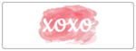 """XOXO"" Watercolor Wrap Around Valentine's Day Labels for Your Sweet Treats"