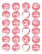 Assorted Watercolor Valentine's Day Circle Labels for Your Sweet Treats