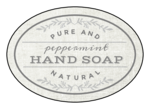 """Pure and Natural Hand Soap"" Oval Bath Product Labels"