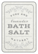 """Lavender Bath Salt"" Bath Product Labels"