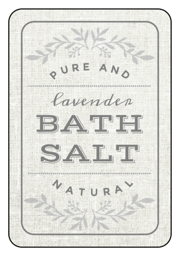 """Lavender Bath Salt"" Path Product Labels (Round Corner Rectangle)"