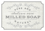 """Italian Rose Milled Soap"" Bath Product Labels"