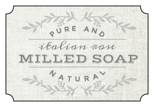 "OL1028 - 3"" x 2"" - ""Italian Rose Milled Soap"" Bath Product Labels"