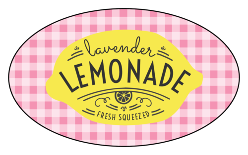 """Fresh Squeezed Lemonade"" Adorable Lemonade Stand Party Labels (Oval)"