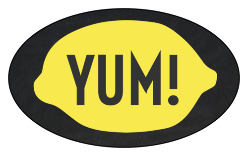 """Yum!"" Lemonade Stand Labels (Oval)"