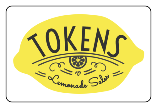 """Tokens"" Lemonade Stand Labels (Round Corner Rectangle)"