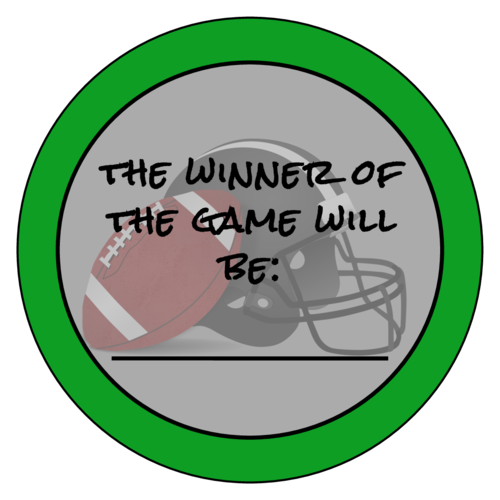 "OL375 - 3.33"" Circle - Football Guessing Game Labels"