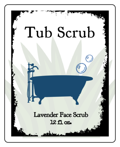 Lavender Face Scrub Labels (Round Corner Rectangle)