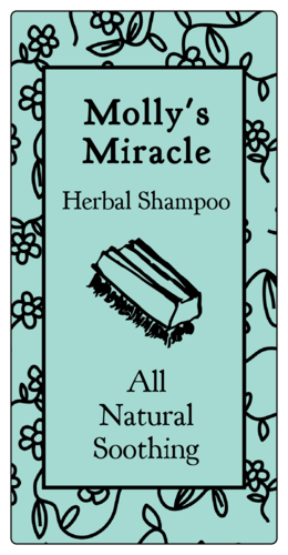 "OL318 - 6"" x 3"" - Herbal Shampoo Product Labels"