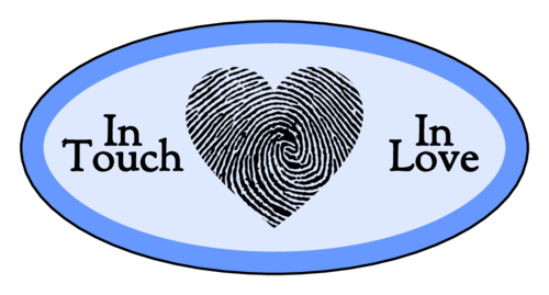 """In Touch, In Love"" Fingerprint Heart Valentine's Day Labels (Oval)"