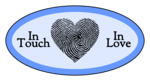"""In Touch, In Love"" Fingerprint Heart Valentine's Day Labels"