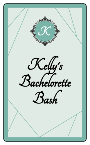 "OL1983 - 3"" x 5"" - ""Bachelorette Bash"" Wine Bottle Labels"
