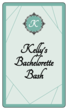 """Bachelorette Bash"" Wine Bottle Labels"