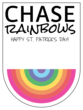 Chase Rainbows Gift Tag Labels