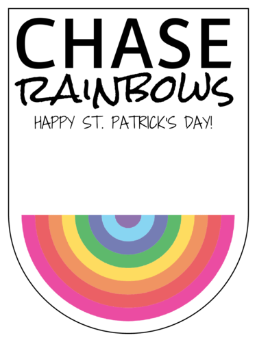 "OL1887 - 3.5"" x 4.75"" - Chase Rainbows Gift Tag Labels"