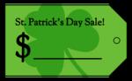 """""""St Patrick's Day Sale"""" Cardstock Price Tag"""