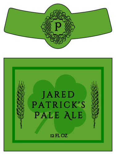 "OL3078 - 3.5"" x 3"" Beer - Celtic St. Patrick's Day Beer Bottle Labels"