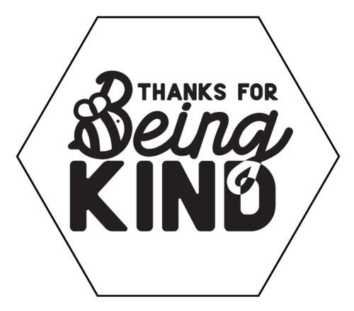 "OL3186 - 2.5"" x 2.1651"" - ""Thanks For Being Kind"" Soap Labels"