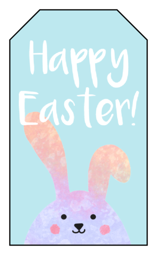 "OL1763 - 1.75"" x 3"" - Happy Easter Cardstock Gift Tag"