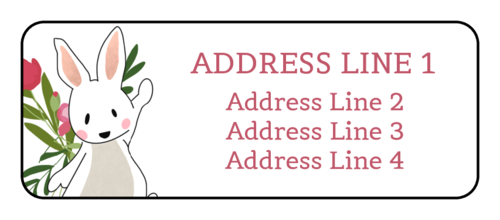 Easter Bunny Address Labels (Round Corner Rectangle)