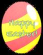 """Happy Easter"" Egg-Shaped Labels"
