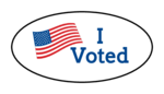 """""""I Voted"""" Oval Labels"""