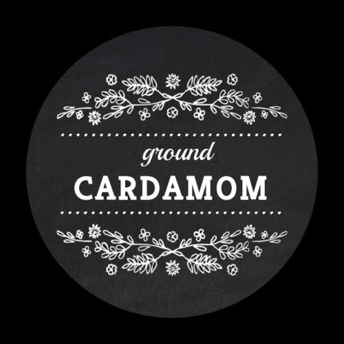 Floral Canning Preserves Jar Label