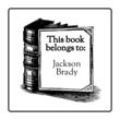 """This Book Belongs to"" Customizable Bookplate Labels"
