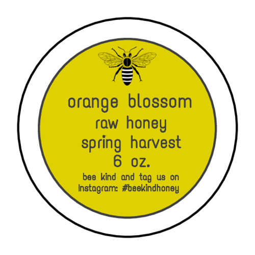 "OL325 - 1.67"" Circle - Spring Harvest Honey Jar Circle Labels"