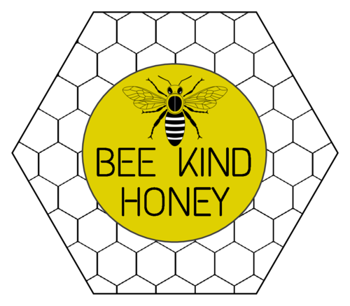 "OL3187 - 3.33"" x 2.8839"" - Hexagon Beehive Honey Jar Label"