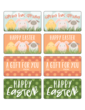 Assorted Easter Friends Decorative Gift Tag Labels