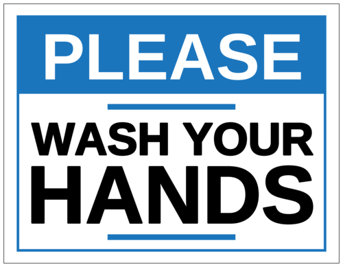 "OL175 - 8.5"" x 11"" - ""Please Wash Your Hands"" Notice Sign Labels"