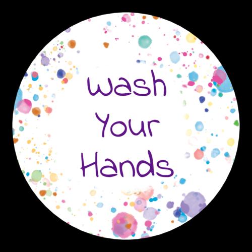 "OL350 - 2.5"" Circle - Kids ""Wash Your Hands"" Sticker"