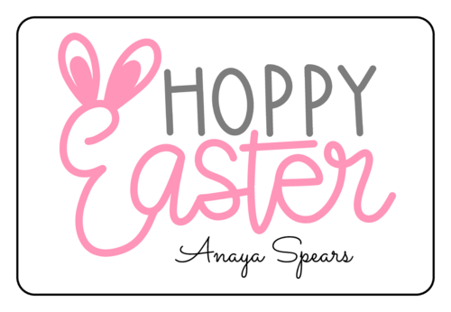 Hoppy Easter Tag (Round Corner Rectangle)