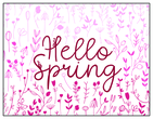 Hello Spring Note Card