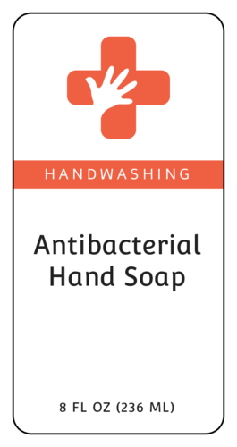 "OL125 - 4"" x 2"" - Antibacterial Hand Soap Label"