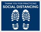 """Thank You For Practicing Social Distancing"" Floor Labels"