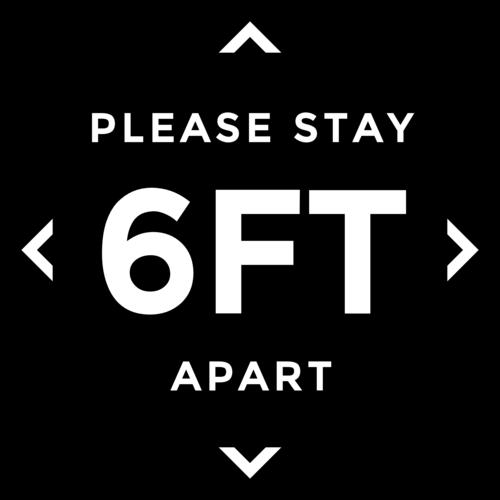 """Please Stay 6 Feet Apart"" Social Distancing Floor Labels"