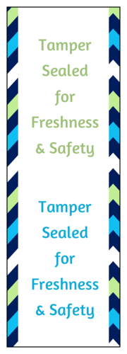 """Tamper sealed for freshness & safety"" Food Delivery Hygiene Seal"