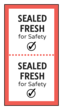 """Sealed Fresh"" Food Packaging Safety Seal"