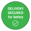 """Delivery Secured"" Take-Out Food Safety Seal Label"