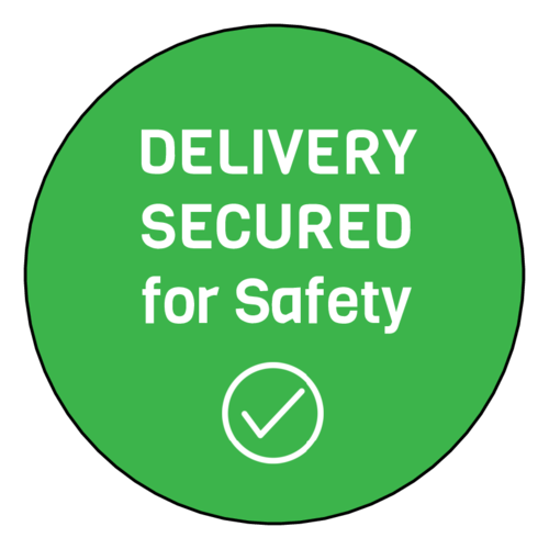 "OL350 - 2.5"" Circle - ""Delivery Secured"" Take-Out Food Safety Seal Label"