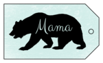 Mama Bear Mother's Day Cardstock Gift Tag
