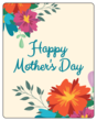 """Happy Mother's Day"" Floral Mother's Day Wine Bottle Label"