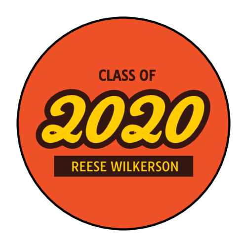 Reese's peanut butter cup label template for graduation