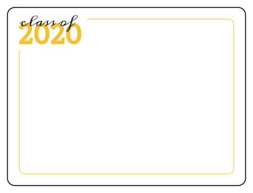 """Class of 2020"" yearbook signature sticker for virtual yearbook signing during coronavirus"