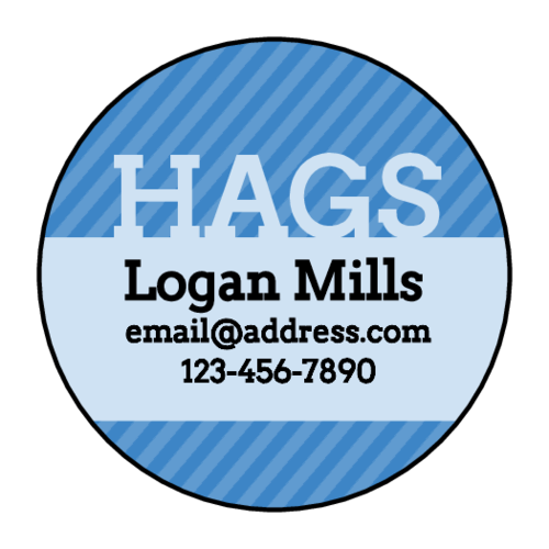 """HAGS"" (have a great summer) sticker for signing school yearbooks"