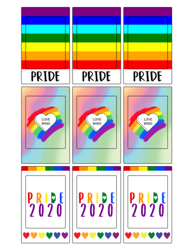 Fujifilm Instax sticker frames for the LGBT community and Pride Month