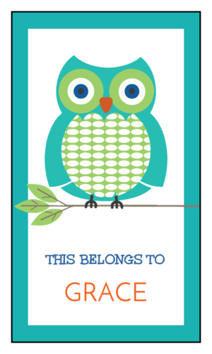 """Free school supplies label template, """"this belongs to"""" sticker"""